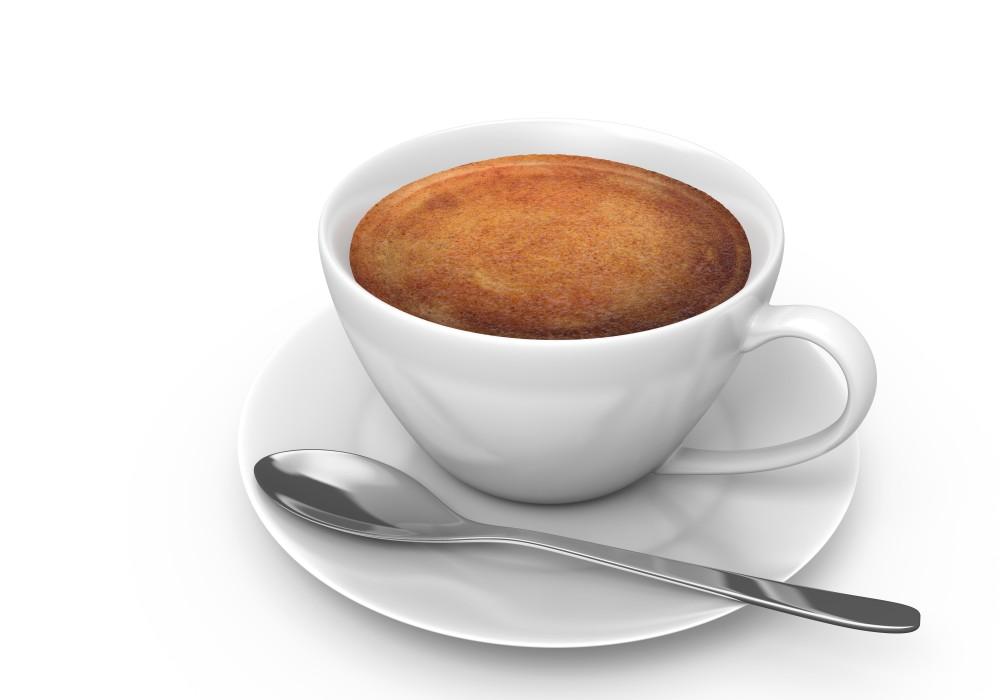 Filiżanka kawy i łyżeczka